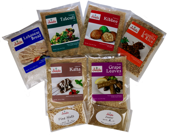 Jemila Foods Lebanese Food Sampler Middle Eastern Food Mixes